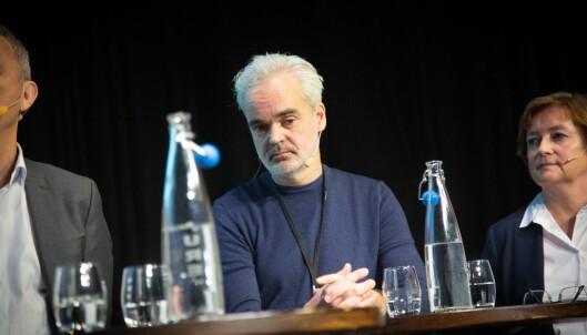 Sjefredaktør Eivind Ljøstad i Fædrelandsvennen. Her fra debatt om redaktørrollen under NRs høstmøte 5. november.