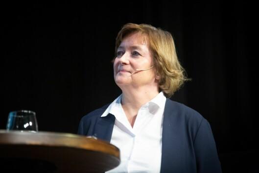 Hanna Relling Berg, konstituert styreleder i Norsk Redaktørforening. Her fra debatt om redaktørrollen under NRs høstmøte 5. november.