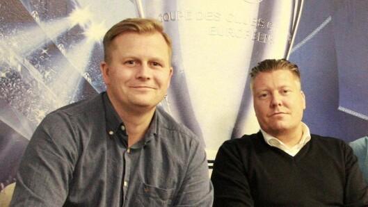 Børge Nielsen (t.h), her sammen med NENT Norge-sjef Vegard Drogseth.