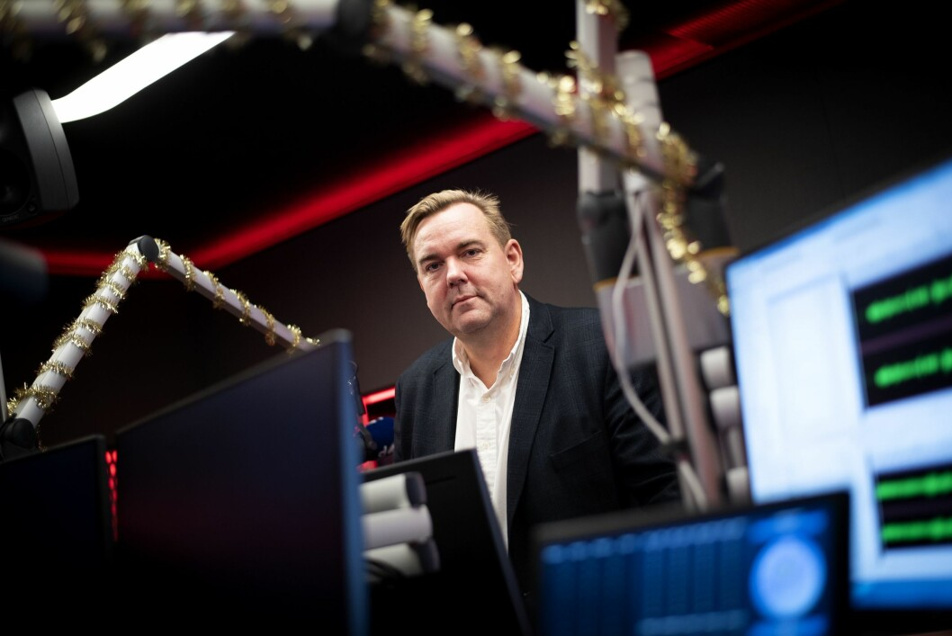 Administrerende direktør Lasse Kokvik i Bauer Media. Her fra en av deres studioer i Oslo.
