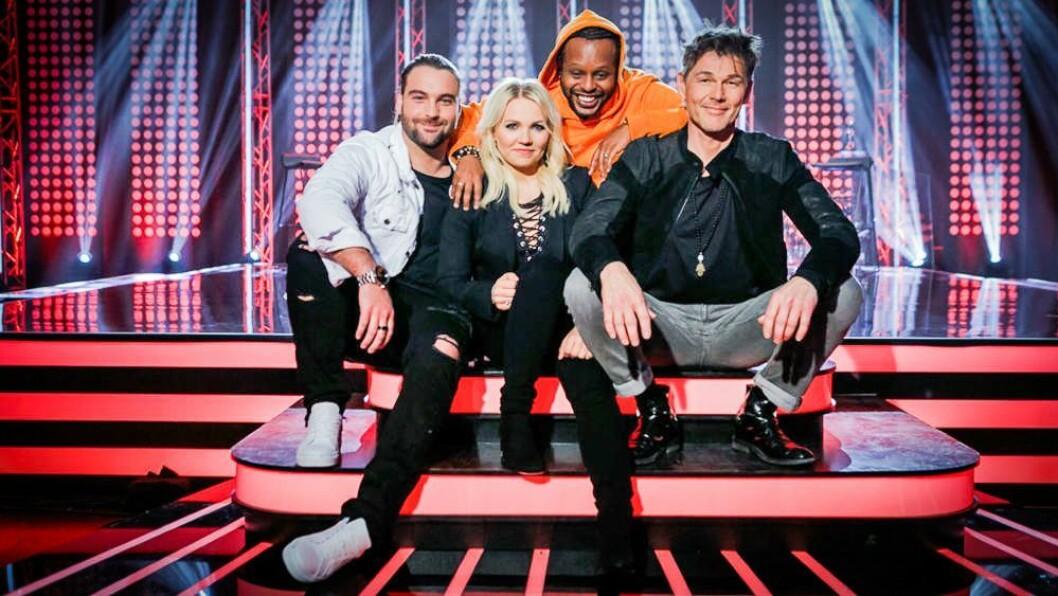 «The Voice»-mentorne Martin Danielle, Yosef Wolde-Mariam, Lene Marlin og Morten Harket. Foto: TV 2