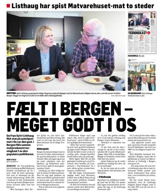 Faksimile fra Bergensavisen.