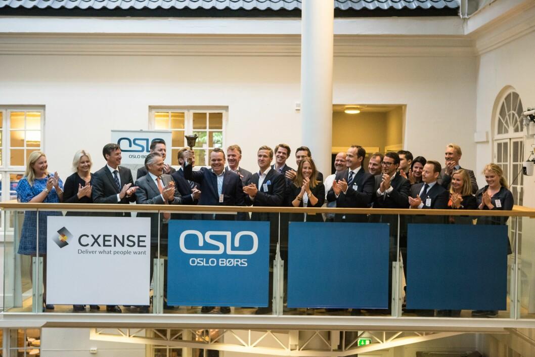 Den gang da i 2014: Selskapet Cxense ble børsnotert. Nå går verdien på selskapet i bunn.