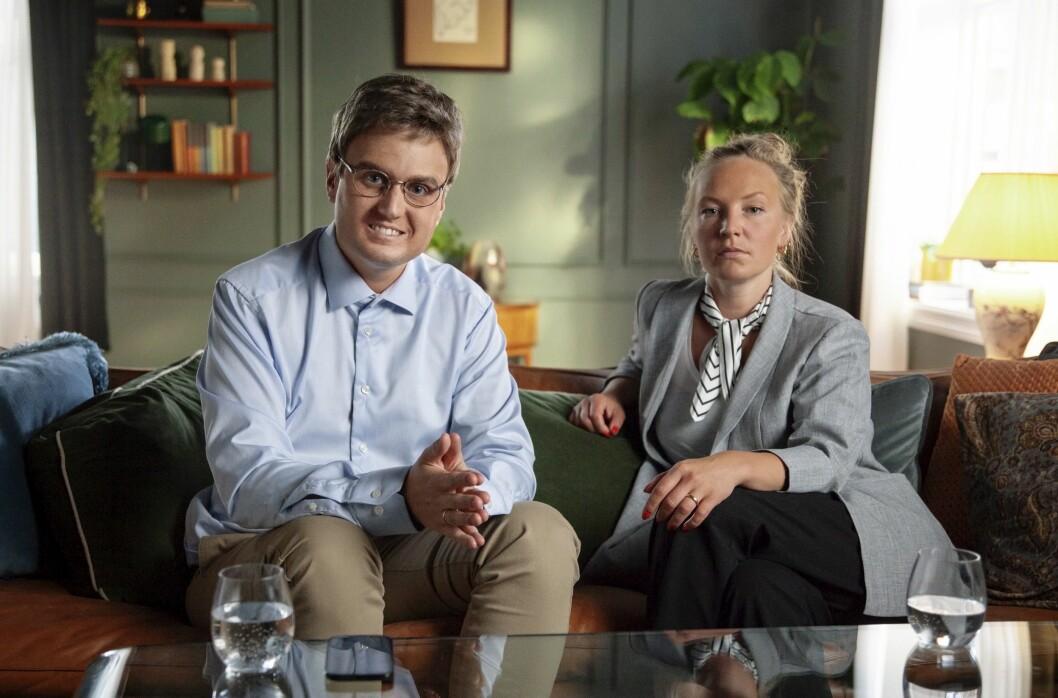 Kjell-Simen og Britt Helen er blant karakterene i «Parterapi» - som er blitt en stor suksess for NRK.