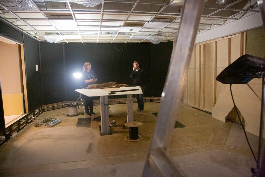 Det nye studioet til Dagsnytt 18 og Nyhetsmorgen på Marienlyst. Det vil stå ferdig i 2019.