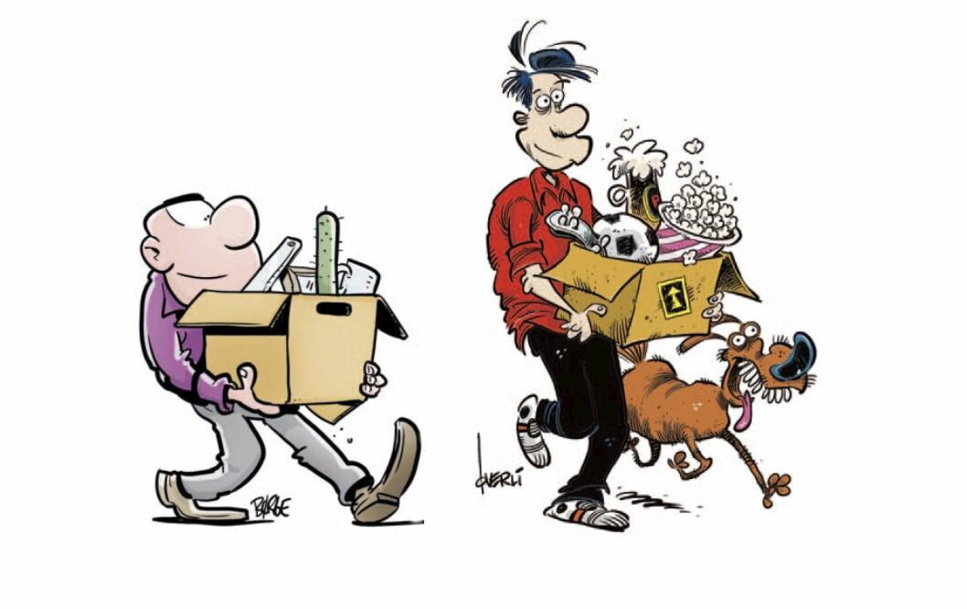 Da Pondus og Lunch flyttet fra Egmont til tegneserieagent Håkon Strands nystartede forlag la de ved denne tegningen.