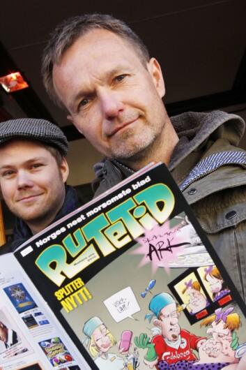 Akrivfoto: Mannen bak Pondus, Frode Øverli. Her fra lanseringen av «Rutetid» i 2010. Foto: Cornelius Poppe / Scanpix