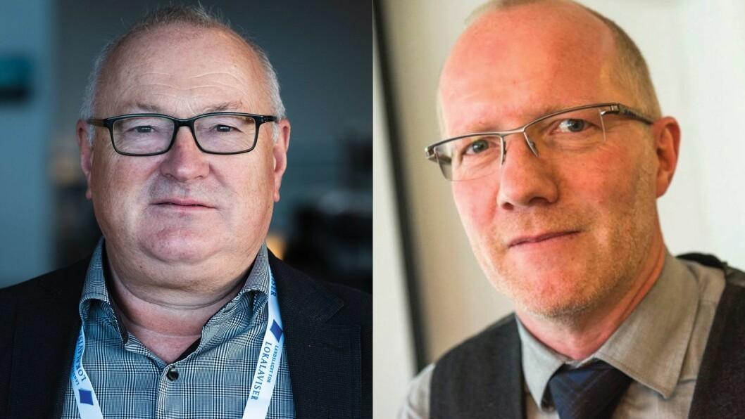 Rune Hetland i LLA og Arne Jensen i Norsk Redaktørforening
