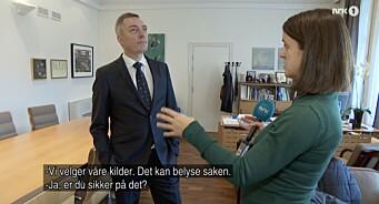 Forsvarsminister Bakke-Jensen til NRK: Ber pressen slutte å stille spørsmål om Helge Ingstad-ulykken