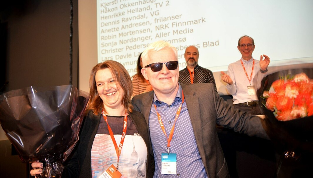 Leder Hege Iren Frantzen og nestleder Dag Idar Tryggestad i NJ. Her fra da de ble valgt på landsmøtet i 2019.