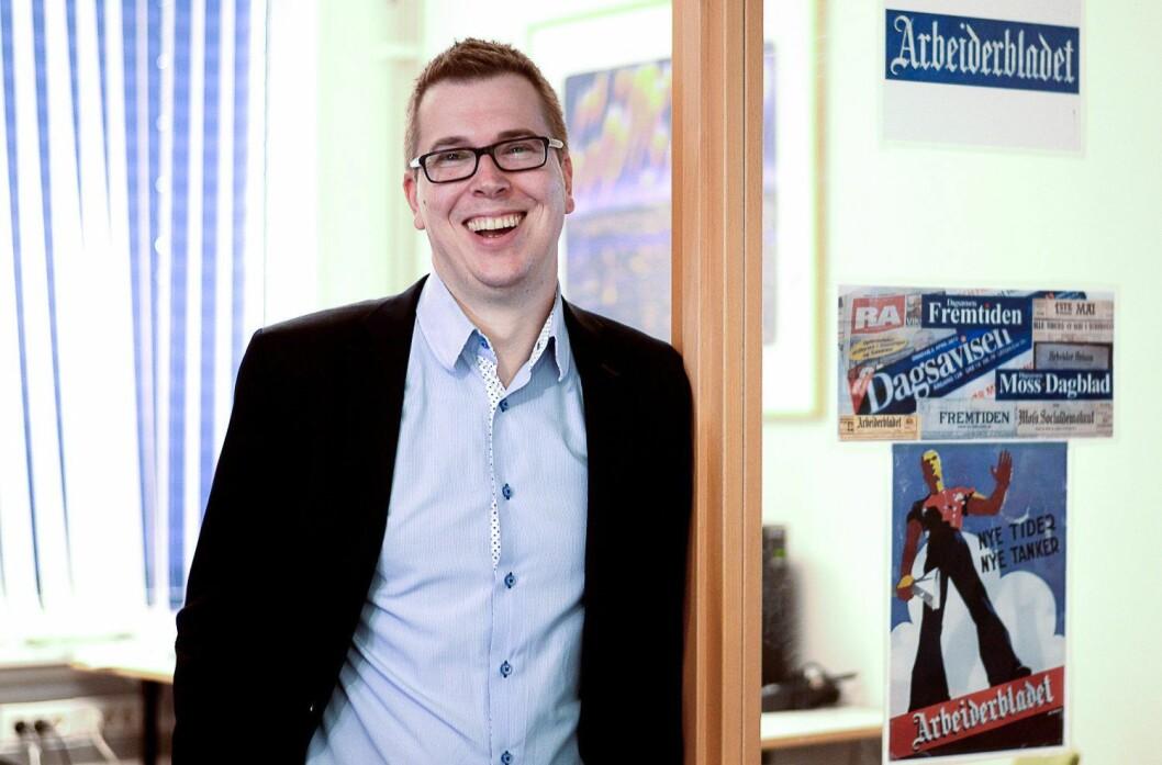Eirik Hoff Lysholm, sjefredaktør i Dagsavisen.