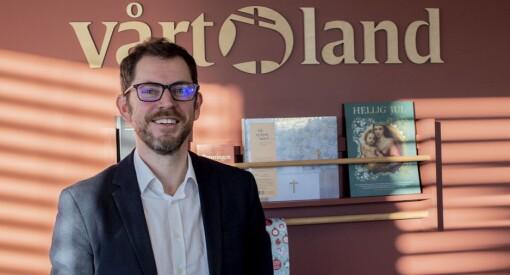 Bjørn Kristoffer Bore er ny sjefredaktør i Vårt Land: – Som barn krabba jeg rundt i bleier i redaksjonen