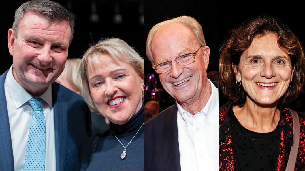 Jon Gelius, Grethe Gynnild-Johnsen, Einar Lunde og Sidsel Wold på NRK Dagsrevyens 60års-markering.