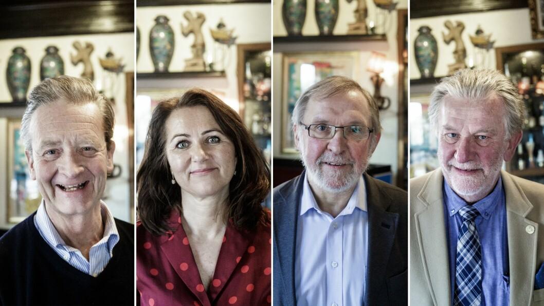Hans Geelmuyden, Reidun Kjelling Berg, Harald Stanghelle og Hans-Wilhelm Steinfeld