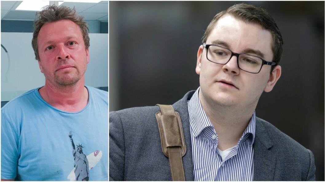 Klubbleiar i Nettavisen, Kjetil Bortelid Mæland, og Espen Teigen, snart journalist i Nettavisen.