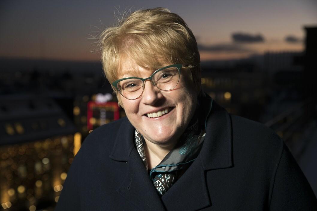 Kulturminister Trine Skei Grande (V) skal feire jula sammen ho mor på Overhalla.