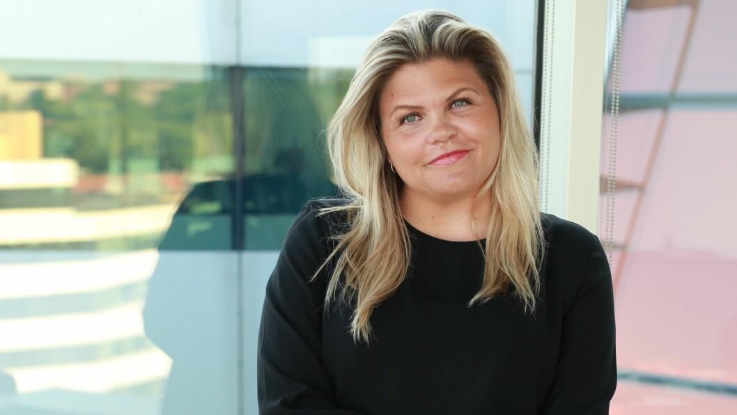 Tinna Gudmundsdottir (37), i permisjon fra jobben som redaksjonssjef på Etterbørs for å lede et strategiprosjekt i Dagens Næringsliv.