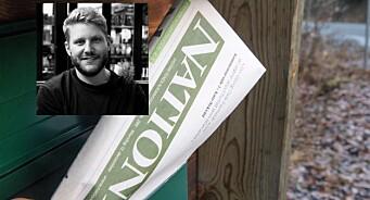 Lars Bilit Hagen er fast tilsett i avisa Nationen