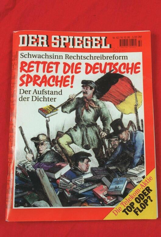 Nyhetsmagasinet Der Spiegel (NTB-foto: Terje Bendiksby) / Tyskland / Språk /.