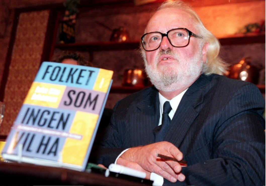 Jahn Otto Johansen, far til Per Anders. Her frå då han gav ut boka «Folket som ingen vil ha», som handlar om sigøynerane sitt liv, i 1996.