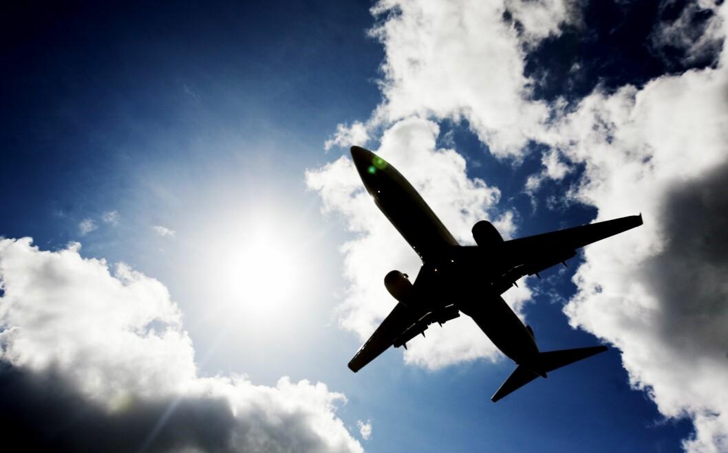 Illustrasjonsfoto: Et fly på vei inn til landing på Gardermoen.