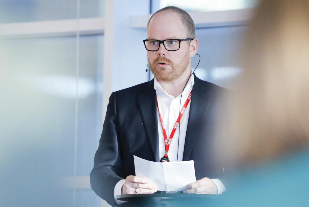 Administerende og ansvarlig redaktør i VG, Gard Steiro under gjennomgangen av medieåret 2018.Foto: Fredrik Hagen / NTB Scanpix