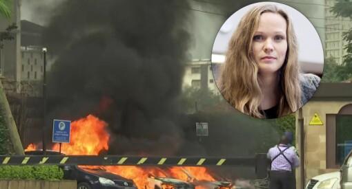 NRKs Ida Titlestad Dahlback i nabobygget da angrepet i Nairobi skjedde
