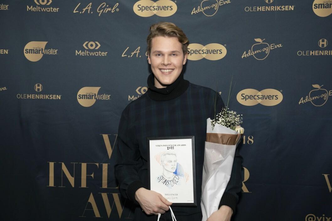 Vegard Harm stakk av med prisen for årets infuencer.