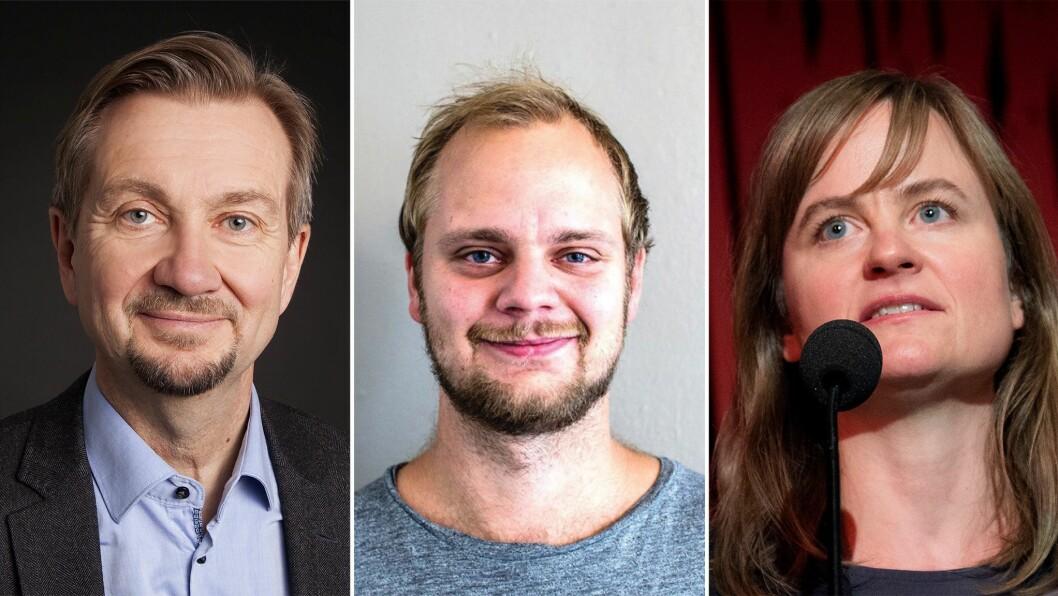 Tryge Aas Olsen, Mímir Kristjánsson og Mari Skurdal.