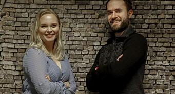 Marius (29) og Ine (23) flytter inn på Karmøy-kontoret til Haugesunds Avis