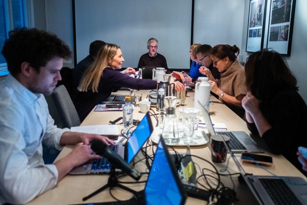 PFU kan få annonse-klage på sitt bord. PFUs sekretariat har startet full saksbehandling i en klage mot ni aviser. Her er utvalget fotografert tidligere i år.
