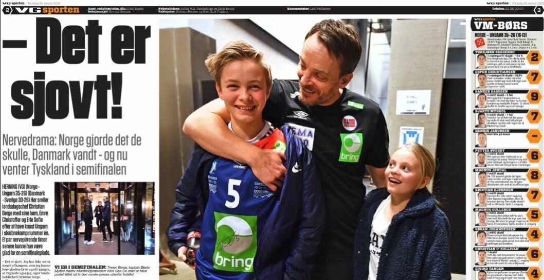 VG-sporten 24. januar.