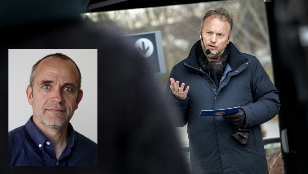 Byrådsleder Raymond Johansen (t.h.) og tidligere Dagbladet-journalist Tore Bergsaker (innfelt). Foto: NTB Scanpix/Privat