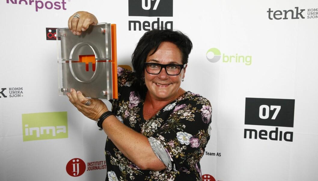 Khrono-redaktør Tove Lie. Her fra da hun ble kåret til Årets fagpresseredaktør i 2018.