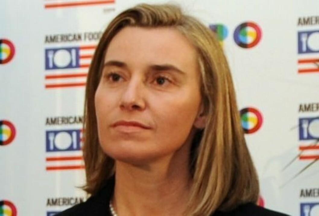 Federica Mogherini, her avbildet i 2014.