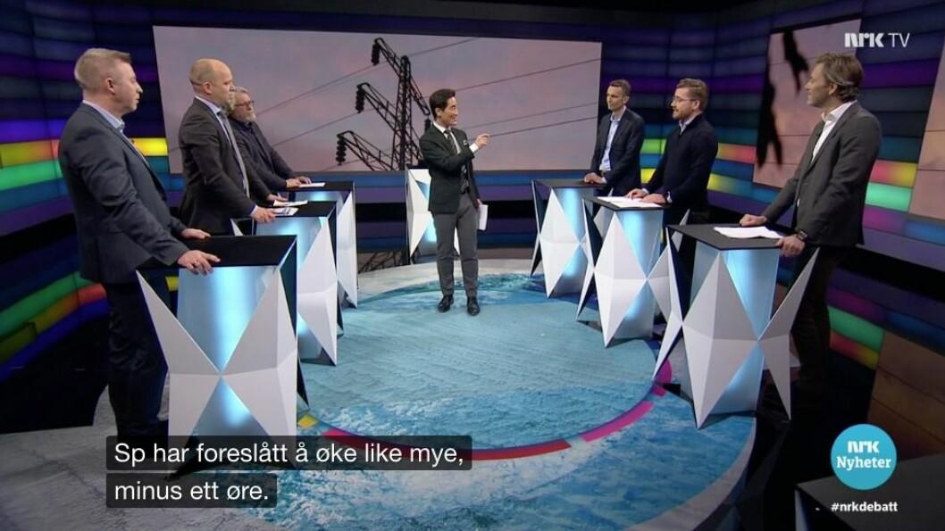 Debatten på torsdag var preget av menn.