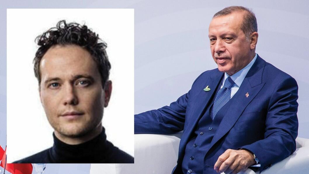 VG-journalist Nilas Johnsen og Tyrkias president Erdogan.
