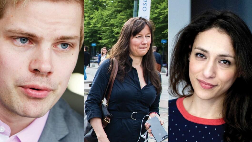 Petter Svaar, Trude Måseide og Mah-Rukh Ali har søkt jobben som kommunikasjonssjef i UD,