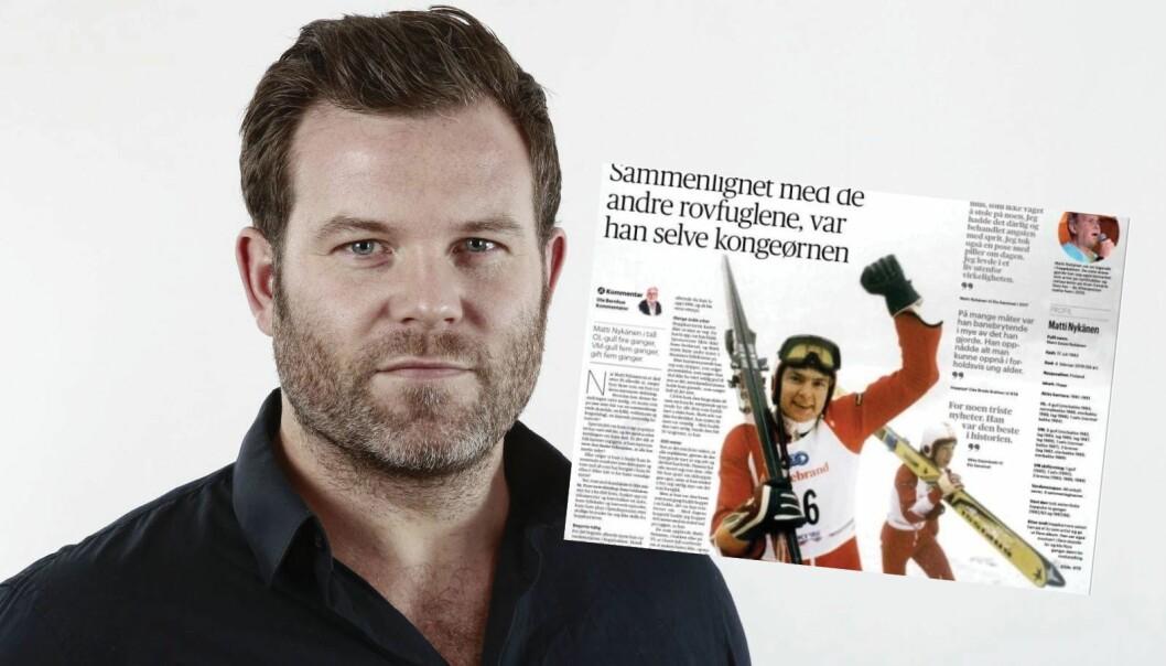 Sportssjef Eirik Fardal innrømmer at de landet på kulen med denne hopp-blemma.