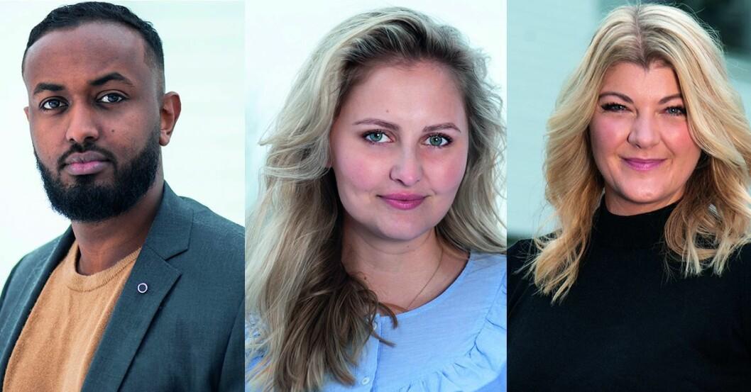Aman Tesfamichael, Ingrid Elise Melbye Olsen og Mette Ljungquist Marstrander.