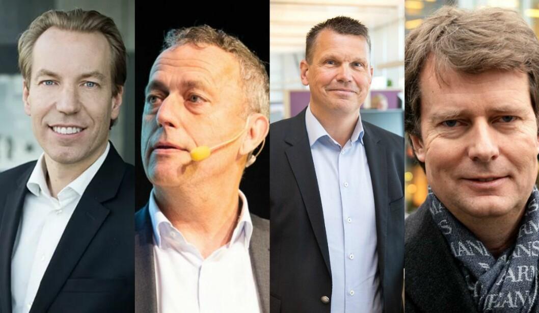 Anders Nilsson (Bonnier), Are Stokstad (Amedia), Per Bowallius (MittMedia) og Per Axel Koch (Polaris Media).