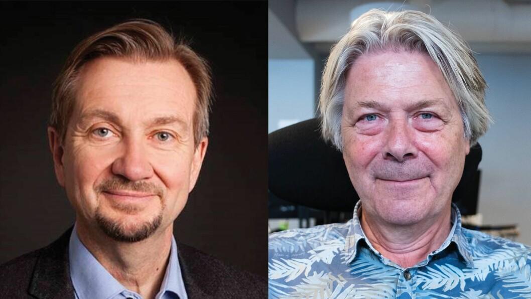 Trygve Aas Olsen og Nettavisens Erik Stephansen diskuterer presseetikk og innlegget «Gruppesex i presseklubben.