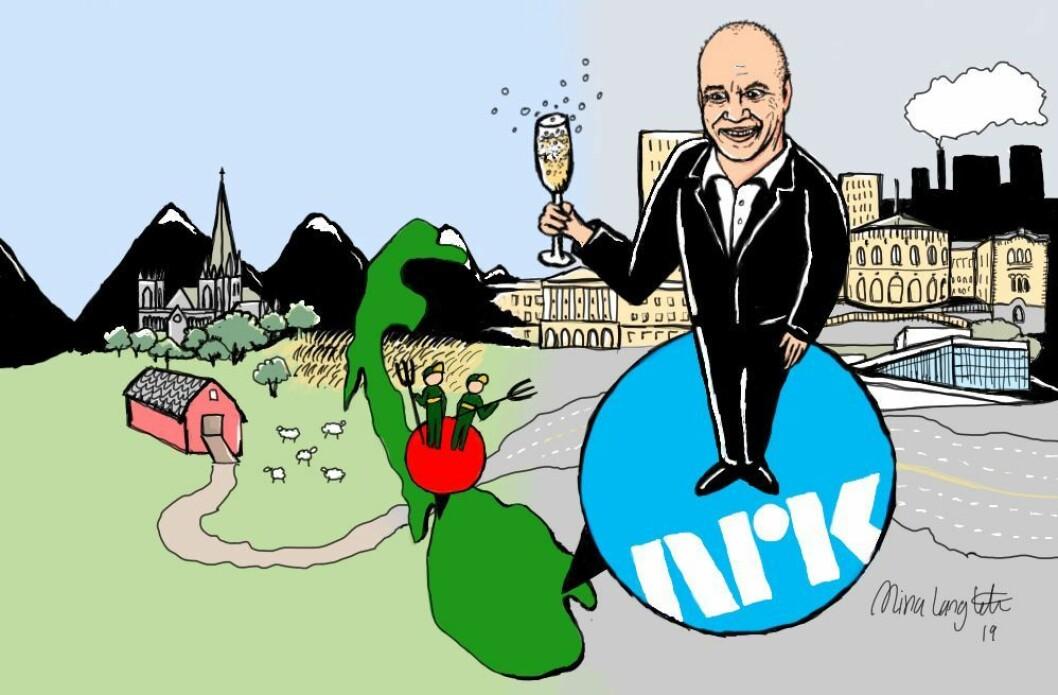 Hvorfor er det gitt at NRK må flytte til en ny plass på Østlandet? spør Erik Waatland.