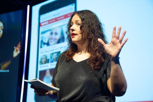 Ingrid Stakkestad i Storebrand. Her på Social Media Days i 2019.