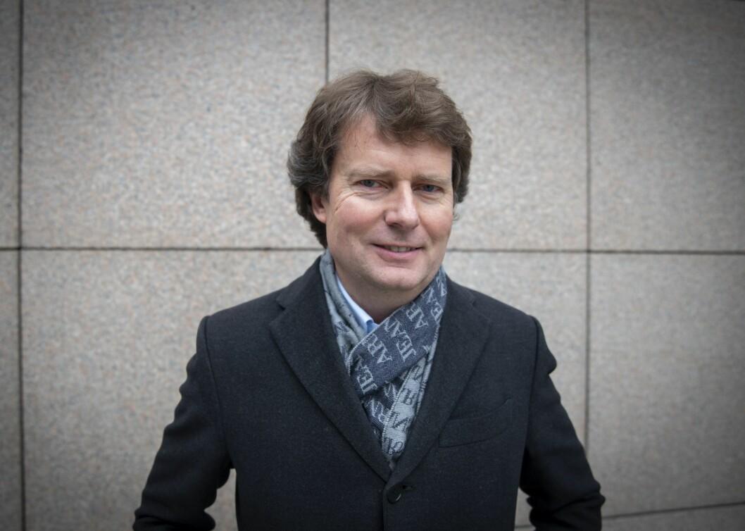 Konsernsjef Per Axel Koch i Polaris Media fredag 15. februar på Aker Brygge.
