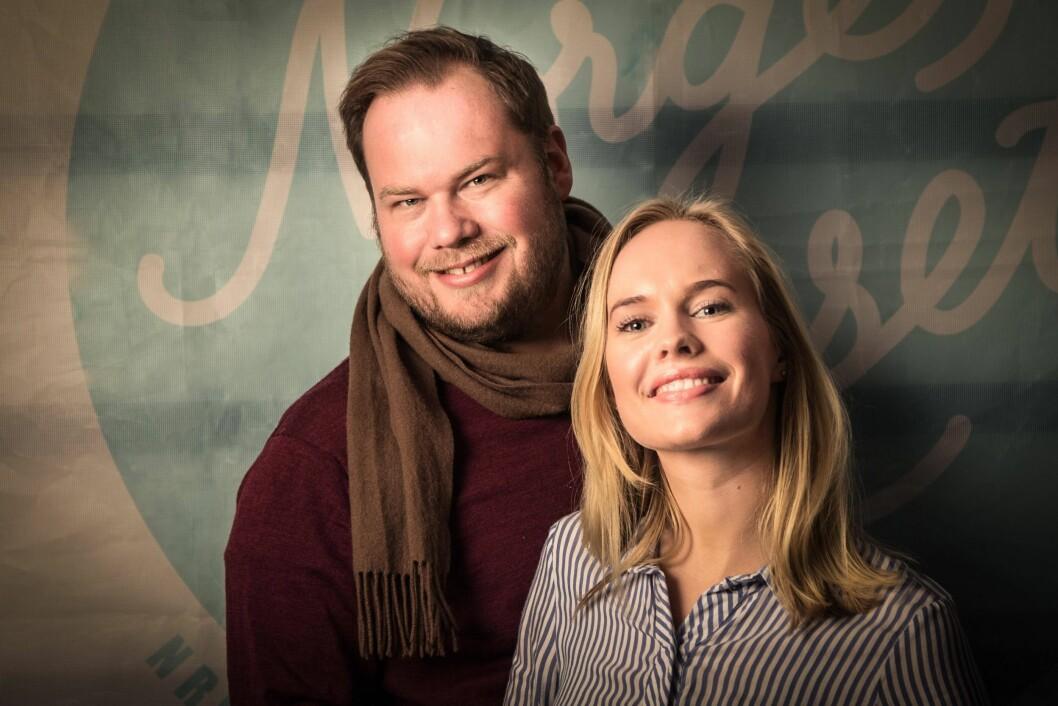 Programlederduo: Pål Hovengen Plassen og Mari Walther Svenning og NRK P1.