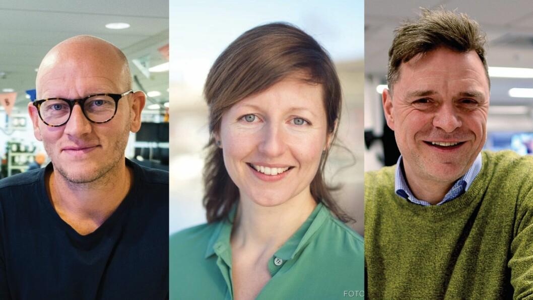 Ola Stenberg i VG, Laurie MacGregor i NRK og Espen Egil Hansen i Aftenposten.
