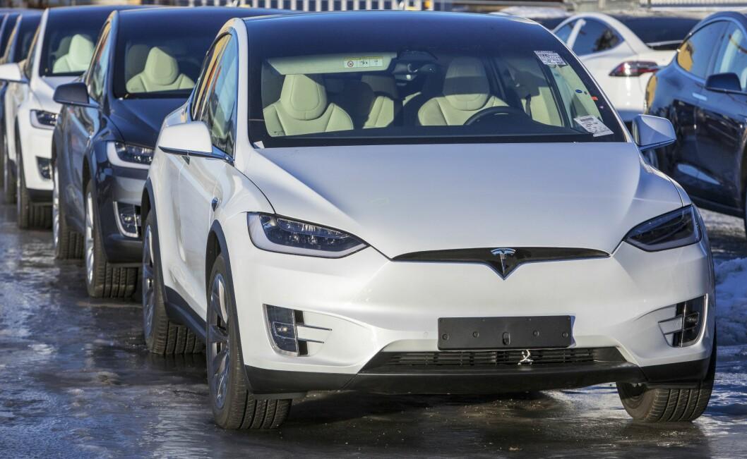 Tesla i Drammen havn.