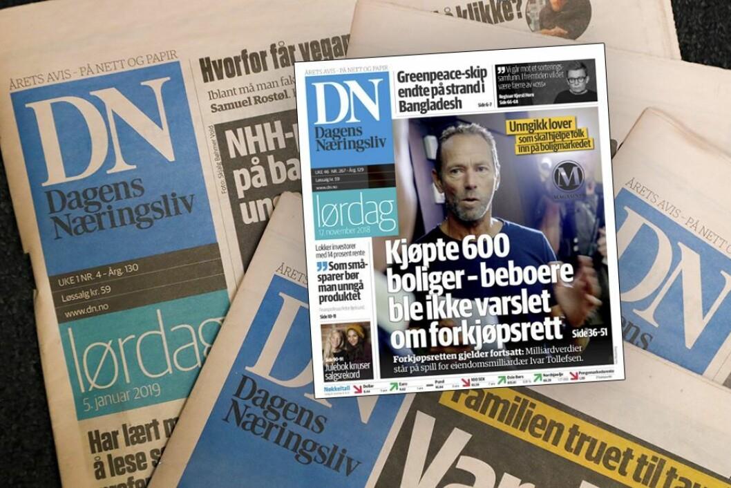 Eiendomsmilliardær Ivar Tollefsen og hans selskap Fredensborg AS klager inn Dagens Næringsliv til PFU.