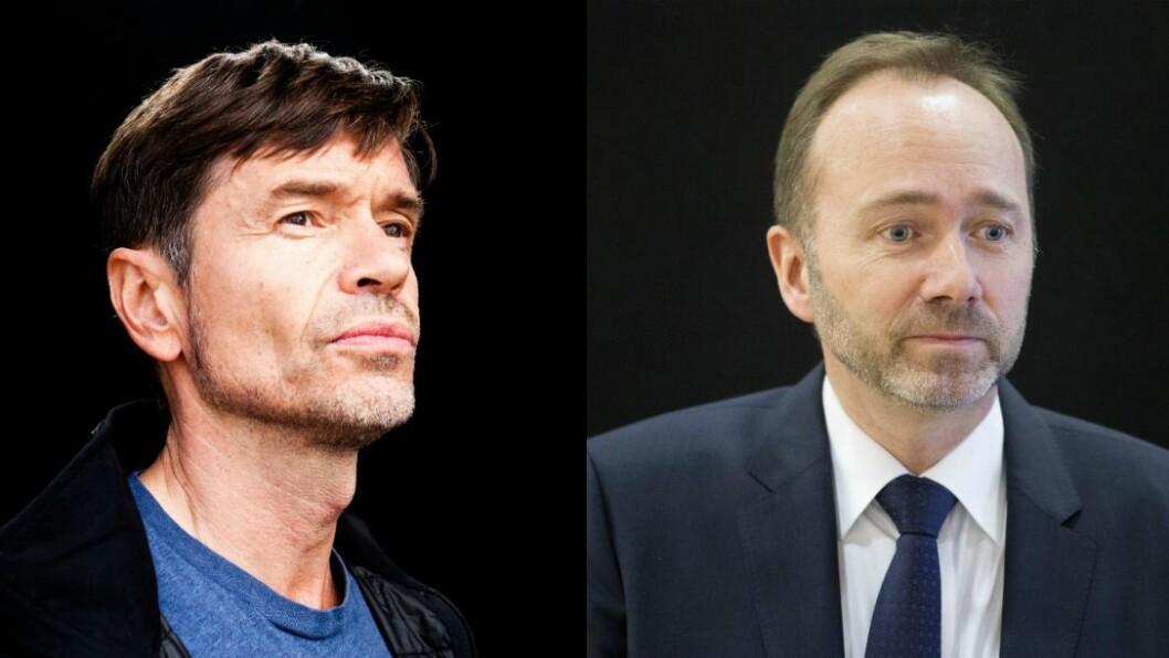 Sosiolog og samfunnsdebattant Kjetil Rolness og Ap-politiker Trond Giske.